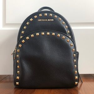 NWT Michael Kors Leather Studded Backpack
